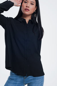 Black Blouse With Long Sleeves