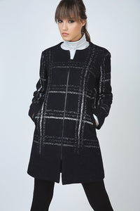 Large Check Zip Coat