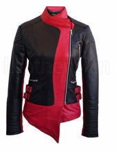 Load image into Gallery viewer, Women Brando Black Pink Leather Jacket