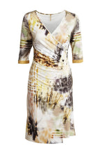 Load image into Gallery viewer, Faux Crossover Print Dress