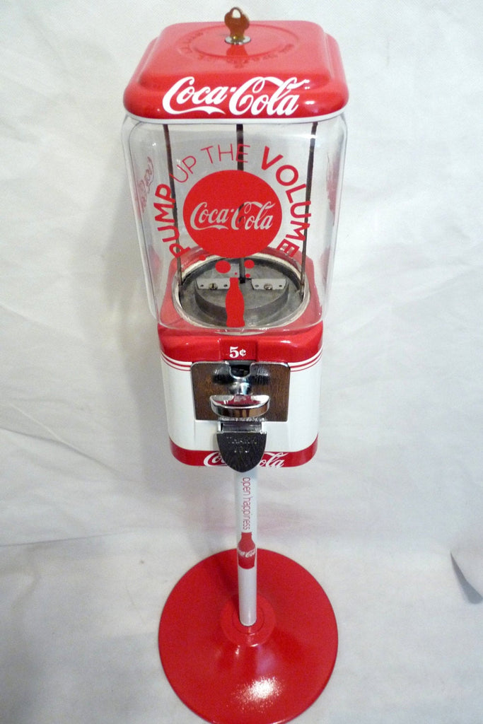 Coca cola Vintage gumball machine 5 penny machine candy dispenser man cave accessories  Coca cola  + stand home decor office  accessories