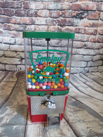 vintage gumball candy nut machine themed Sinclair gas petro collectibles man cave accessories  office game room decor