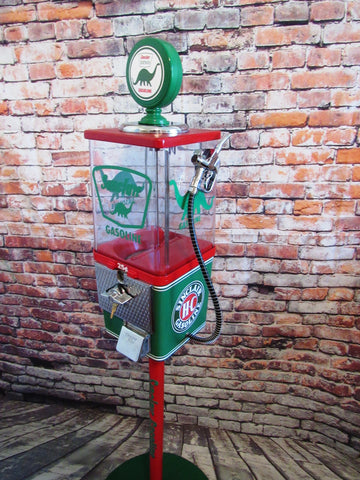 SINCLAIR gas pump vintage gumball machine with metal stand m&m dispenser