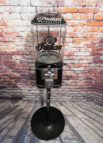 Vintage gumball machine vintage nut candy dispenser man cave accessories a great unique gift Indian motorcycle gumball machine bar decor
