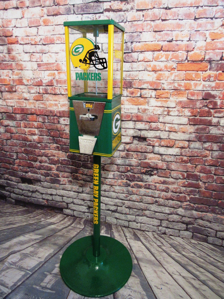 vintage gumball candy machine Green Bay Packers inspired novelty gift man cave  football inspired game room accessories man gift