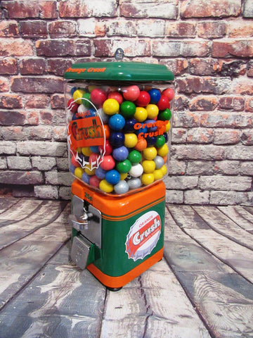 Orange crush inspired Vintage gumball machine vintage  man cave decor game room accessories