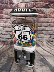 Route 66 memorabilia collectibles nut candy gumball machine mother road vintage sign candy dispenser novelty gift Americana