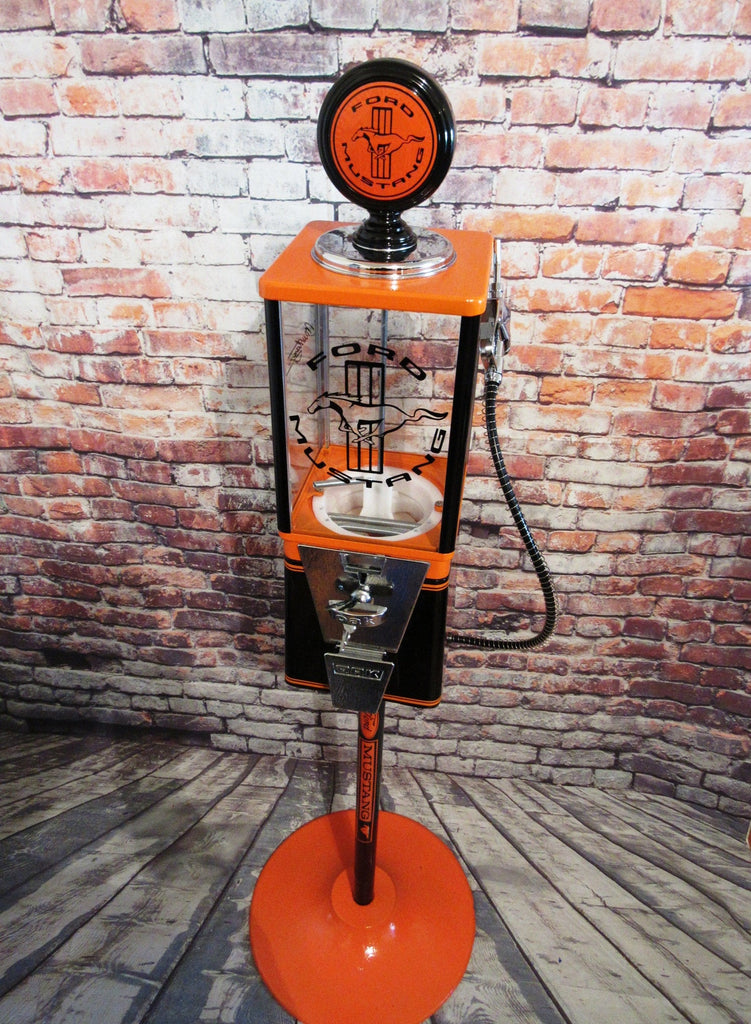 Ford Mustang gumball machine vintage candy machine restored Ford car man cave accessories novelty collectibles bar decor gift M&m dispenser