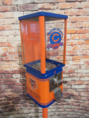 vintage gumball candy machine restored Chicago Bears  inspired great gift man cave living room decor Christmas gift football fan Go Bears!