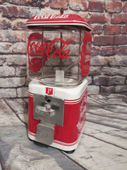 vintage antique  1 cent Acorn glass candy machine all original metal penny machine novelty gift memorabilia man cave accessories office bar