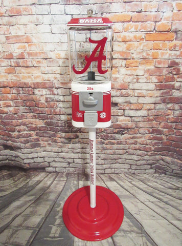 Alabama Crimson Tide inspired vintage Acorn gumball machine