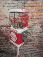 Coca cola Vintage penny machine 10 cent coin antique candy machine original Coca cola theme Coke memorabilia gift unique game room addition