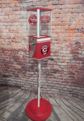 vintage gumball machine Cincinnati reds inspired accessories man cave bar  game room gift  sport memorabilia MLB game room decor