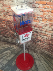 Mobil vintage candy machine gumball nut dispenser for your man cave office living room decor themed Mobil gasoline a unique gift