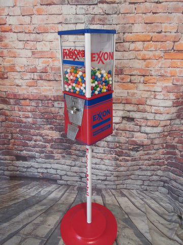 Exxon gas vintage candy machine nut gumball dispenser man cave novelty gift bar accessories office decor gift for him m&m dispenser