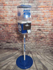 vintage  gumball candy machine  Ford cars man cave candy dispenser vintage coin operated machine with metal stand man cave office bar decor
