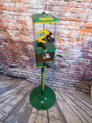 Green Bay Packers  inspired vintage gumball candy machine sport memorabilia gift man cave  bar living room decor NFL collectibles game room