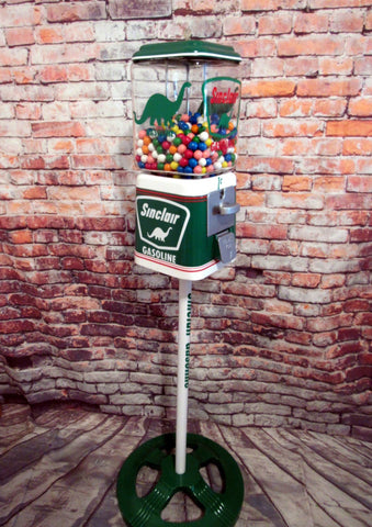 Sinclair Dino gumball machine penny machine Vintage Acorn vintage themed Sinclair  Dino gas Ford stand man cave decor game room accessories