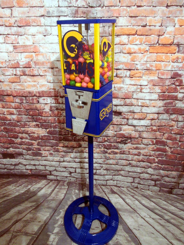 LA Rams inspired sport memorabilia vintage gumball machine gift man cave living room decor football fan gift for man home decor Super Bowl