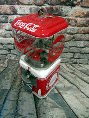Christmas gift gumball machine candy machine  Coca cola Coke memorabilia vintage restored Acorn machine man cave bar gift M&m dispenser