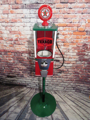 TEXACO collectible unique vintage gumball machine with metal stand man cave gift game room office decor free shipping in the USA