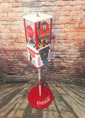 Coca Cola  vintage gumball machine candy machine with metal stand  man cave decor holiday gift personalized gift Coke memorabilia coke sign