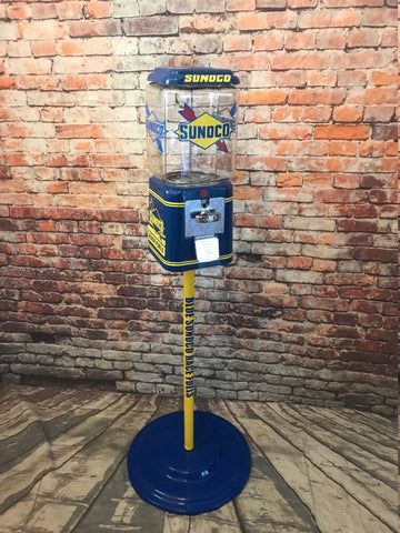Blue Sunoco Acorn gumball machine