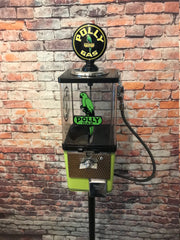 Polly gas pump vintage gumball machine with metal stand m&m dispenser man cave game room gift
