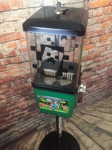 Minecraft inspired gumball toy vending machine inspired great gift boy girl room birthday gumball machine bank