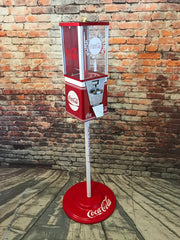 gumball machine candy machine vintage candy vending  Coca Cola soda man cave accessories  cola memorabilia machine with stand