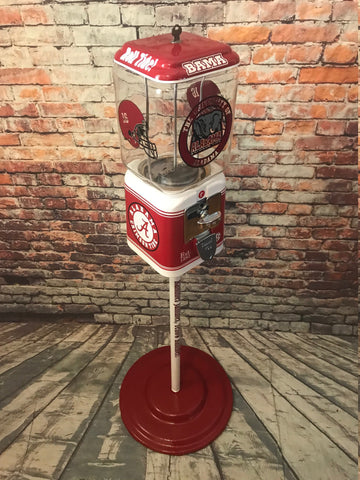 Alabama Crimson tide inspired vintage gumball  + stand