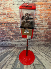 Indian motorcycle vintage gumball dispenser candy  nut machine vintage coin operated with stand man cave accessories great gift