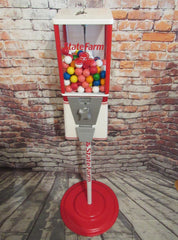 vintage gumball machine State Farm inspired accessories man cave bar game room gift