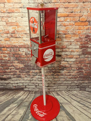 vintage gumball machine Coca cola spirit boy coke memorabilia man cave bar game room gift gumball dispenser