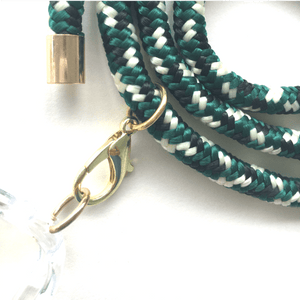 Phone necklace green mix. Changeable rope. Bets option to keep your hands free