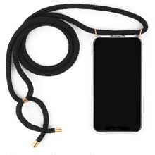 Load image into Gallery viewer, Phone necklace black. Crossbody rope. Bets option to keep your hands free
