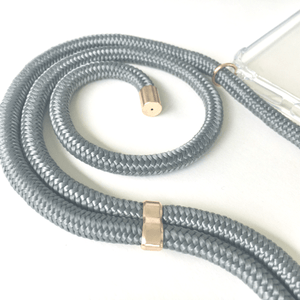 Phone necklace grey. Crossbody rope. Bets option to keep your hands free