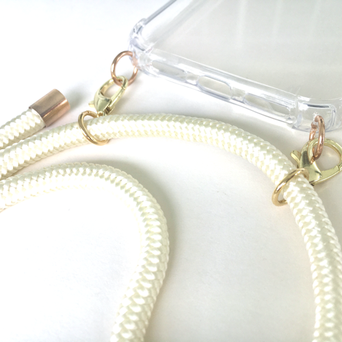 Phone necklace beige. Changeable rope. Bets option to keep your hands free