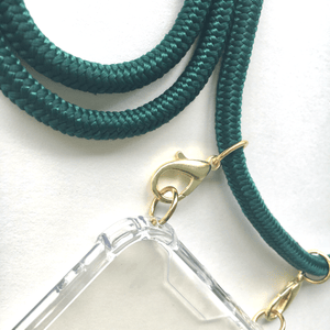 Phone necklace green. Changeable rope. Bets option to keep your hands free