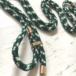 Phone necklace green mix. Crossbody rope. Bets option to keep your hands fre