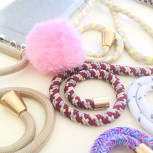 Load image into Gallery viewer, Phone necklace I Bella Hub I Personalize I  pom pom I acessory