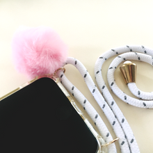 Load image into Gallery viewer, Phone necklace I Bella Hub I Personalise I  pom pom I decoration
