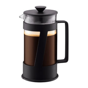 CREMA French press coffee maker, 8 cup, 1.0L, 34oz BLACK
