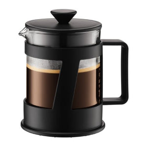CREMA French press coffee maker, 4 cup, 0.5 l, 17 oz BLACK