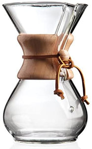 SIX CUP CLASSIC CHEMEX® Coffee Maker with Wood Collar and Tie, 6 cups