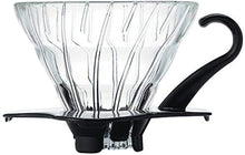 Load image into Gallery viewer, V60 Glass Coffee Dripper BLACK, 01