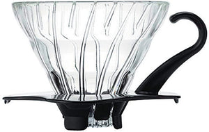 V60 Glass Coffee Dripper BLACK, 01