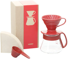 Load image into Gallery viewer, V60 Colour Dripper & Pot Set- WHITE