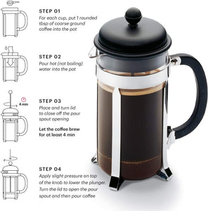 Caffettiera Coffee Maker, 8cup, 1.0L, 34oz