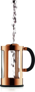 Chamboard French Press Coffee Maker, 8 Cup, 1.0 Liter, 34oz, s/s Copper